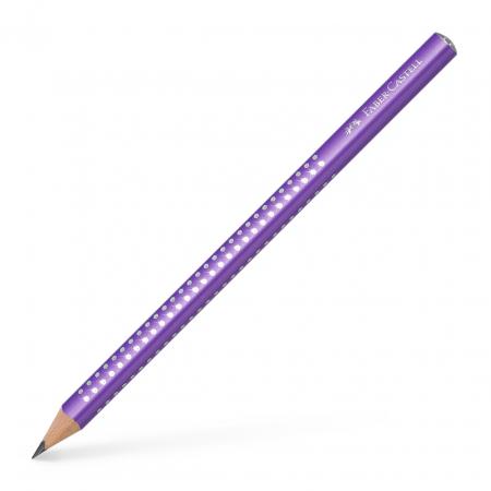 Creion Grafit B Sparkle Jumbo Violet 2019 Faber-Castell [0]
