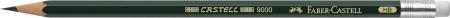 Creion Grafit Castell 9000 cu guma Faber-Castell [2]