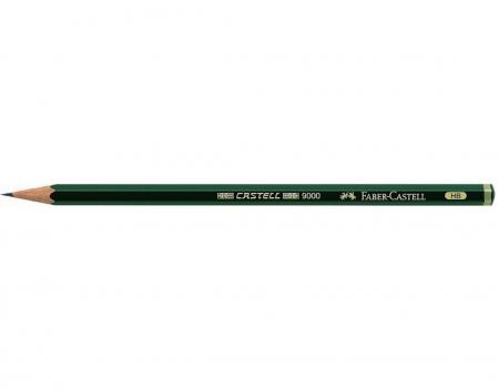 Creion Grafit Castell 9000 Faber-Castell (15 duritati: 8B-6H)1