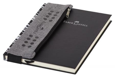 Etui Instrumente de Scris Grip Melange Gri Faber-Castell1