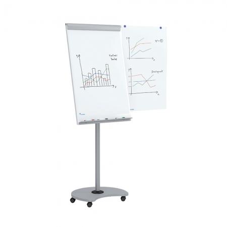 Flipchart Multifunctional mobil 360° magnetic, reglabil pe inaltime, Rocada2