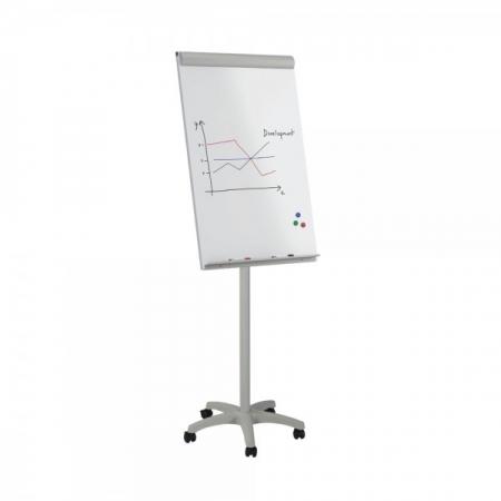 Flipchart mobil magnetic cu baza din plastic Rocada0