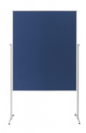 Panou Prezentare Mobil Textil Albastru 1200x1500mm MAGNETOPLAN1