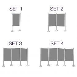 Panou Prezentare Fix, dubla fata gri MAGNETOPLAN (set 1-2-3-4 panouri fixe)3
