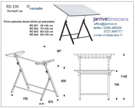 RD190 Picior Planseta Desen Tehnic Rocada1