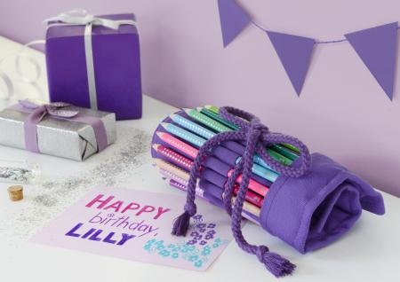 Rollup 20 creioane colorate Sparkle +1 Creion Sparkle + accesorii Faber-Castell2