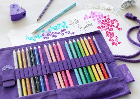 Rollup 20 creioane colorate Sparkle +1 Creion Sparkle + accesorii Faber-Castell3