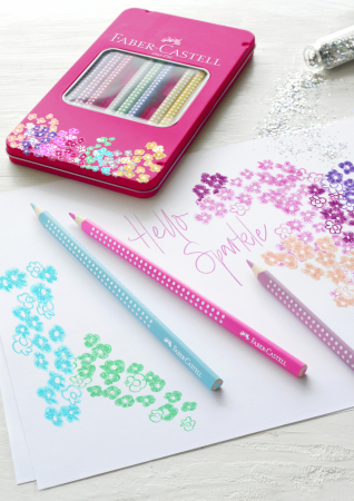 Set 12 Creioane colorate Sparkle Faber-Castell [1]