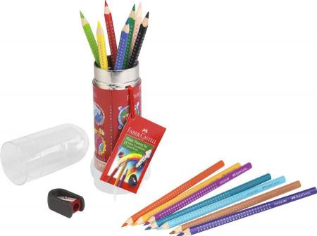Set Cadou Racheta 8 Creioane Colorate Grip si Ascutitoare Faber-Castell [1]