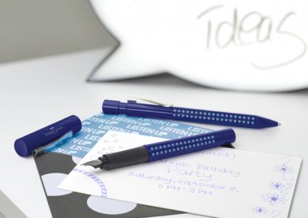 Stilou Grip 2010 Albastru-Bleu Faber-Castell [2]