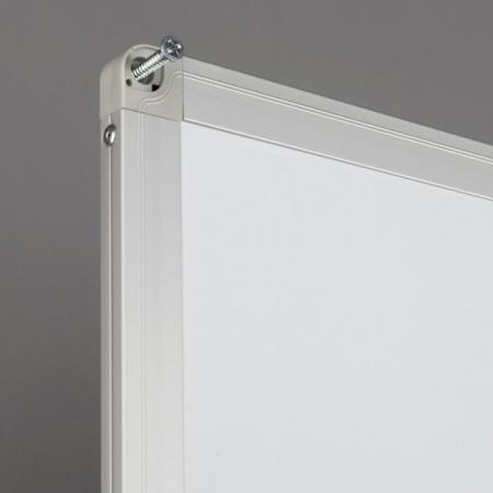 Whiteboard fata dubla cu rama din aluminiu emailat Rocada2