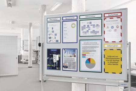 Whiteboard pe stand mobil, SP rotativ 360 gr Magnetoplan (5 variante de marime)2