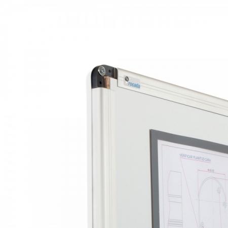 Whiteboard simplu cu rama din aluminiu emailat Rocada3