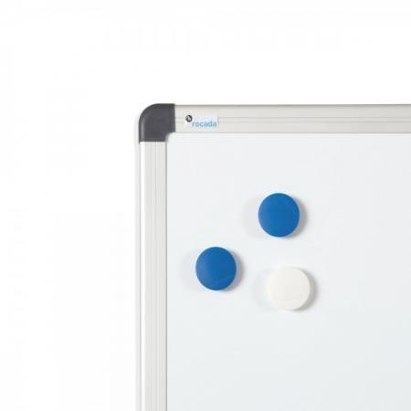 Whiteboard simplu cu rama din aluminiu lacuit Rocada0