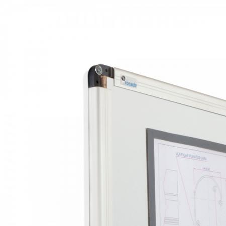 Whiteboard simplu cu rama din aluminiu lacuit Rocada2