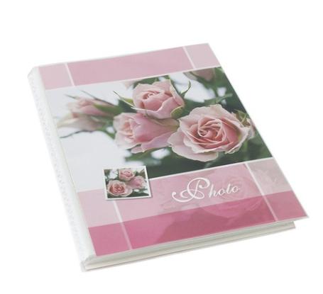 Album fotografii Three Roses, Vision, 10x15 cm, 36 poze, 18 file albe, roz [0]