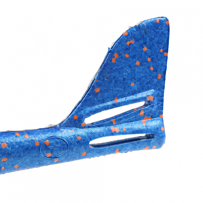 Avion planor Vision din polistiren cu LED, Albastru, lungime 30 cm, Robentoys [1]