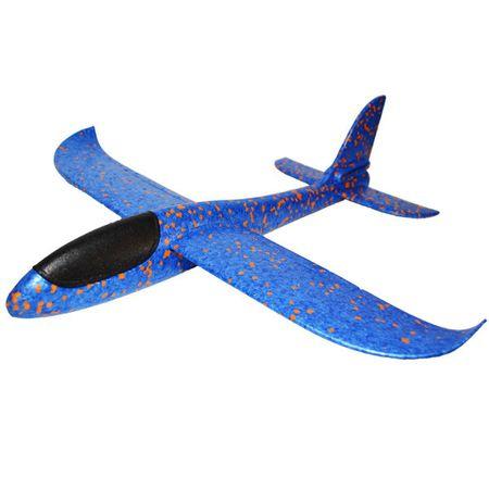 Avion planor din polistiren, lungime 30 cm, Albastru, Vision [1]