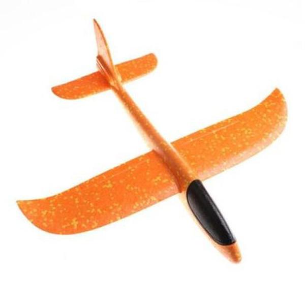 Avion planor din polistiren, lungime 30 cm, Portocaliu, Vision [0]