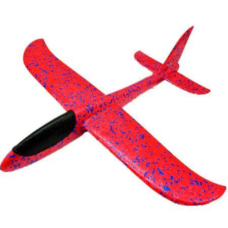 Avion planor din polistiren, Roz, lungime 30 cm, Vision [0]