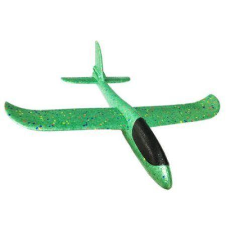 Avion planor din polistiren, Verde, lungime 30 cm, Vision [0]