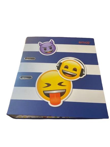 Biblioraft A4 Vision, 8 cm, cu model emoji, albastru [0]
