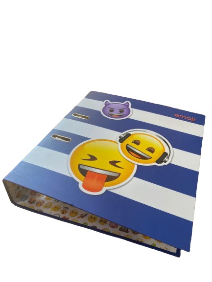 Biblioraft A4 Vision, 8 cm, cu model emoji, albastru [2]