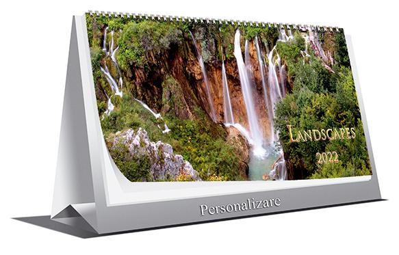 Calendar de Birou LANDSCAPES 2022, 21x10cm, 6 file+coperta [0]