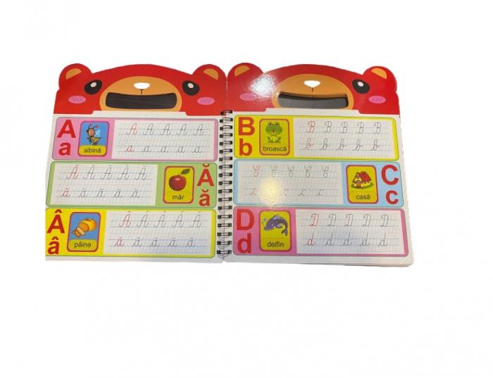 Carte tip tablita magnetica Vision, 10 pagini cu alfabetul / numerele si marker / burete [1]
