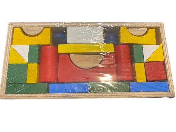 Cutie cu 26 de forme geometrice multicolore din lemm- Vision [0]