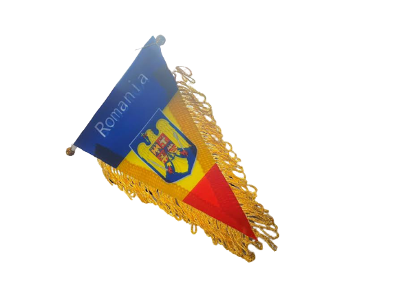 Fanion Romania Vision, tricolor, cu stema [1]