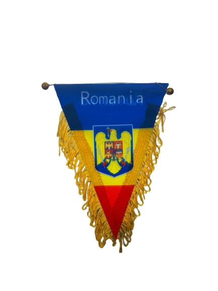 Fanion Romania Vision, tricolor, cu stema [0]