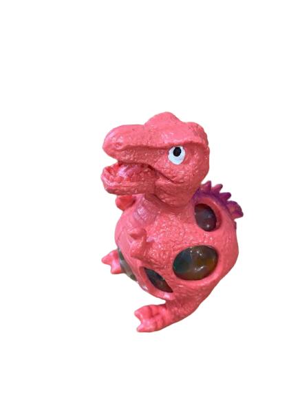Figurina Animal World Vision, squishy sub forma de dinozaur, rosu [0]