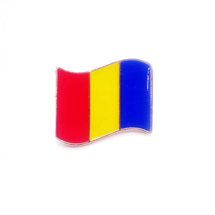 Insigna steag Romania, 2.5 x 1.7 cm, Vision [1]