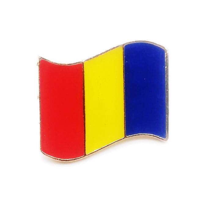Insigna steag Romania, 2.5 x 1.7 cm, Vision [0]
