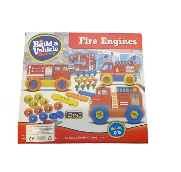 Joc de constructie Vision, 3 in 1, Fire Engines [1]