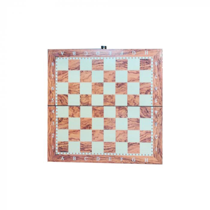 Joc de sah, table si dame- Vision, 33 x 33 cm, cutie si piese din lemn, cu toate piesele incluse [3]