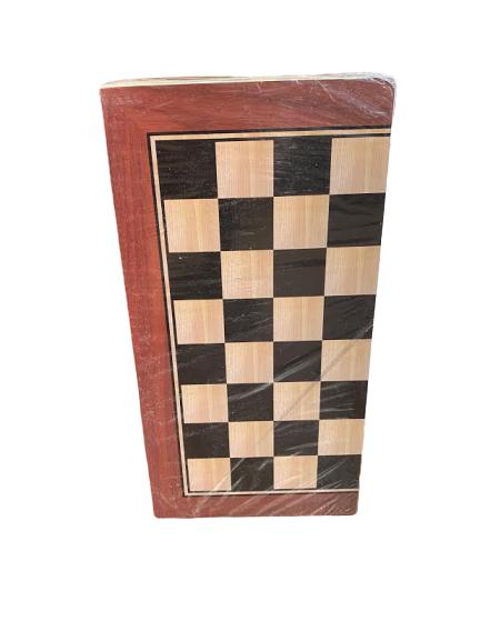 Joc de sah, table si dame - Vision  29x29 cm din lemn, cu toate piesele incluse. [1]
