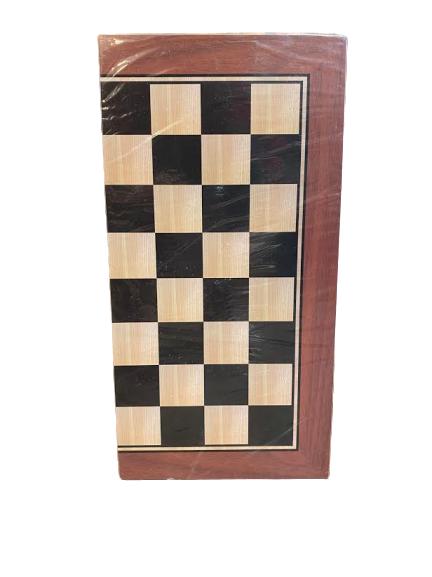 Joc de sah, table si dame - Vision  29x29 cm din lemn, cu toate piesele incluse. [2]
