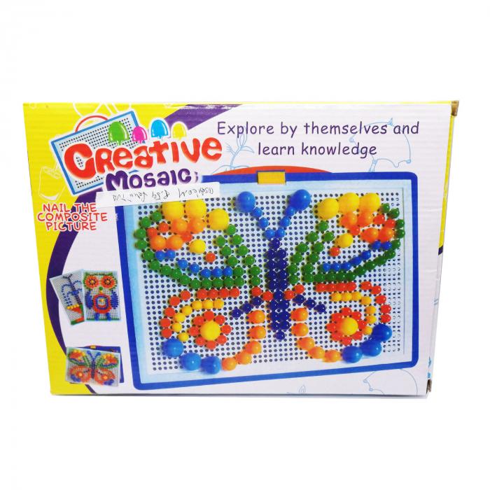 Joc mozaic Vision, cu pioneze de plastic multicolore [0]