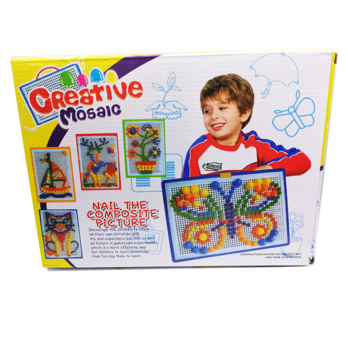 Joc mozaic Vision, cu pioneze de plastic multicolore [2]