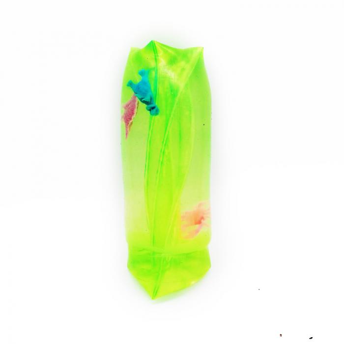 "Jucarie antistres distractiva ""Slippery Slime"", Vision, umpluta  cu slime gelatina moale si figurine, 12 cm [2]"