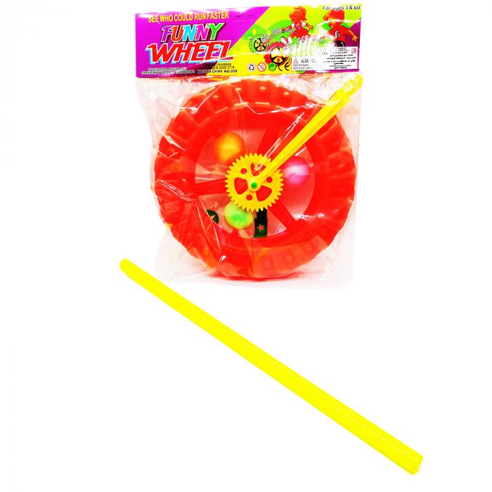 Jucarie de impins cu bat, Roata cu lumini, Vision [3]