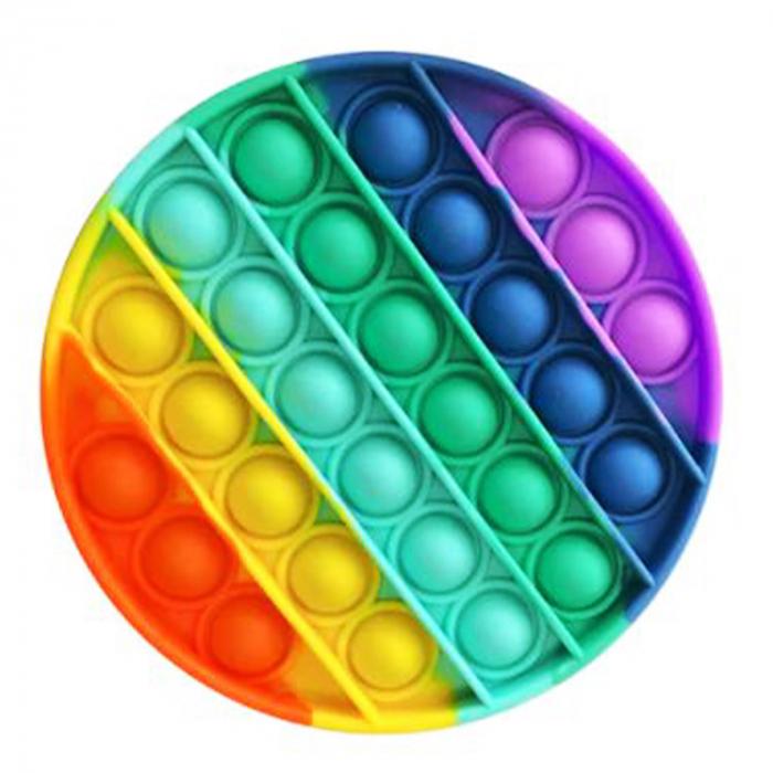 Jucarie interactiva Vision, Pop It, rotunda, multicolora, 13 cm [0]