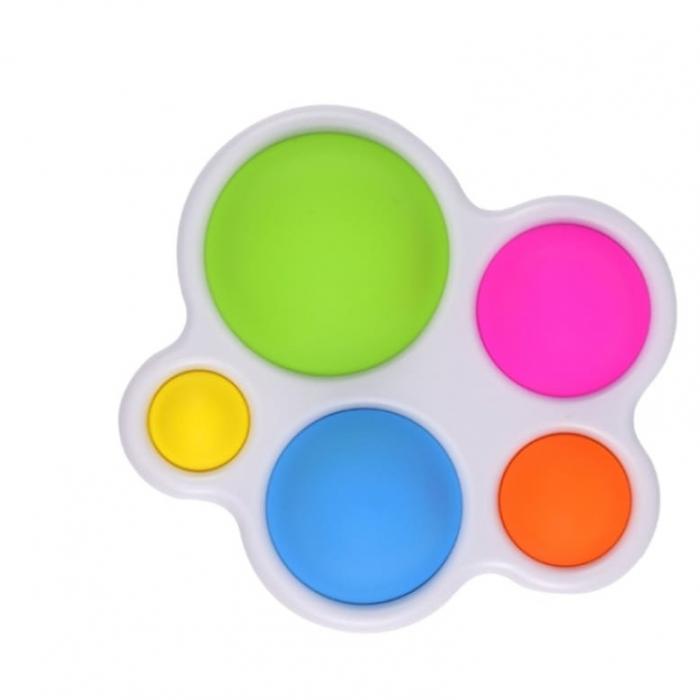 Jucarie senzoriala din silicon Vision, Multi Dimple, multicolor, Picodino® [0]