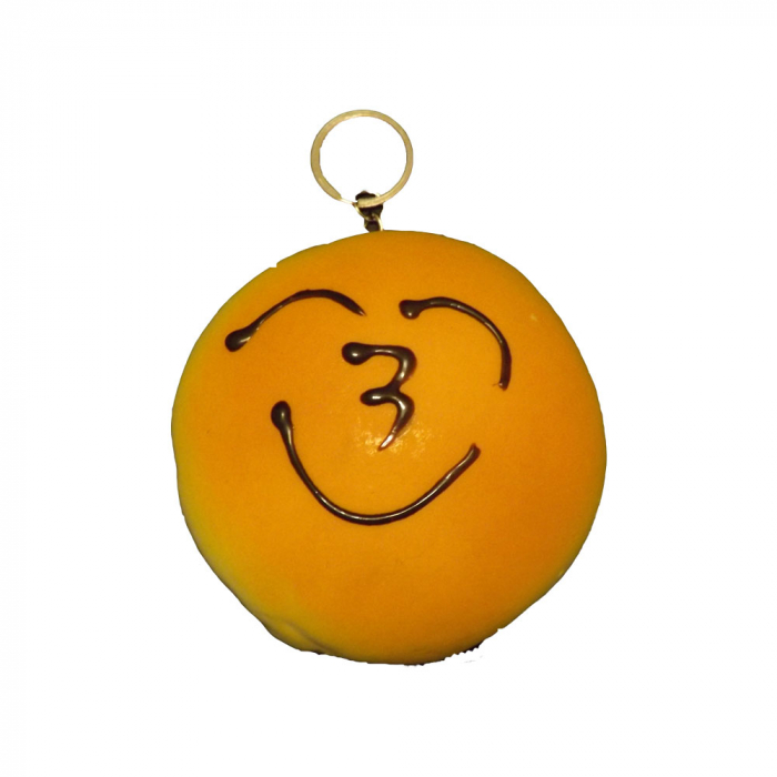 Jucarie Squishy Vision, antistres pentru copii peste 8 ani - model gogoasa cu toping de ciocolata tip smiley [0]