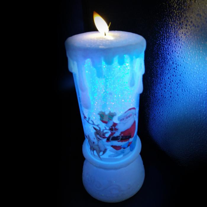 Lumanare Craciun cu led luminos, Vision, alb-21 cm [1]