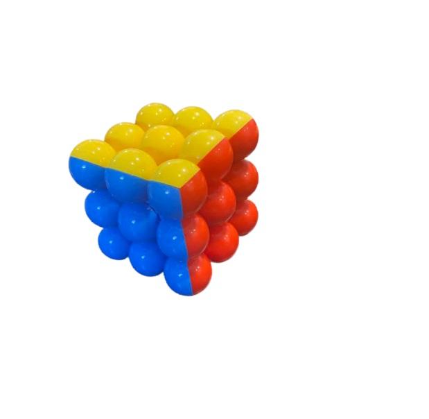 Magic cube Vision, cu  profile rotunde, multicolorate [0]