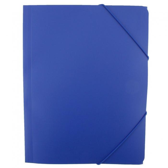 Mapa plastic cu elastic Vision- albastru [0]
