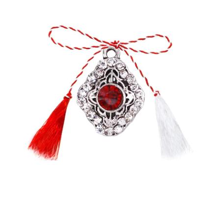 Martisor Pandantiv Vision -Vintage Romb Argintiu Tibetan [0]